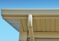 Seamless Gutter System and Downspout