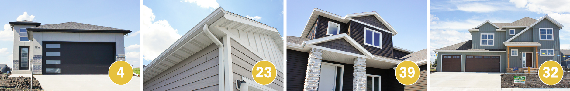Collage of Several Homes Featuring Gutters from All New Gutter (4 images)